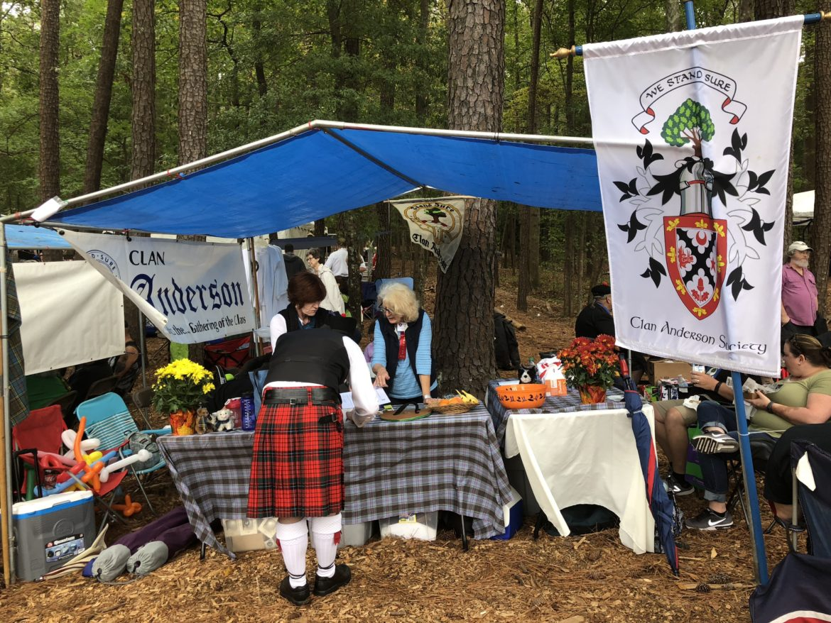 Clan Anderson tent at Stone Mountain Highland Festival